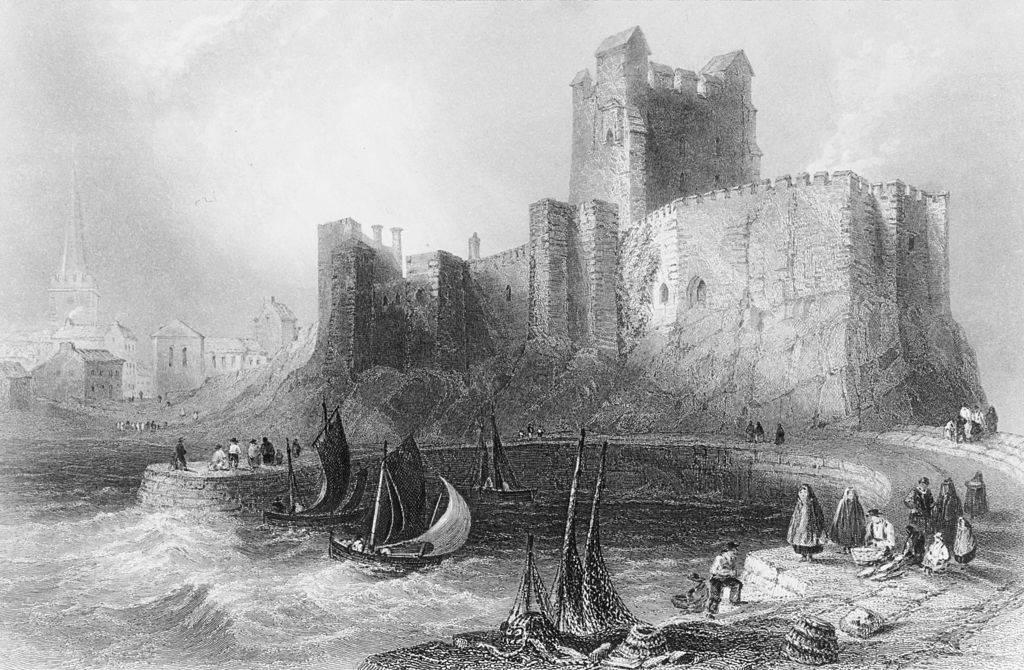 Irish boats leaving Carrickfergus