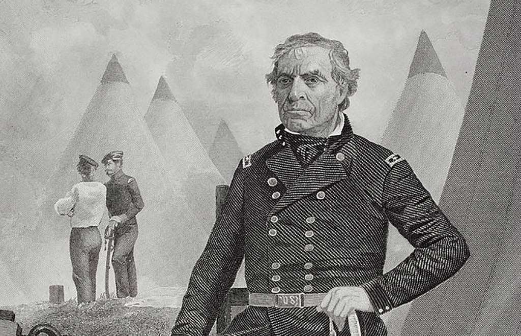 Drawing of Zachary Taylor