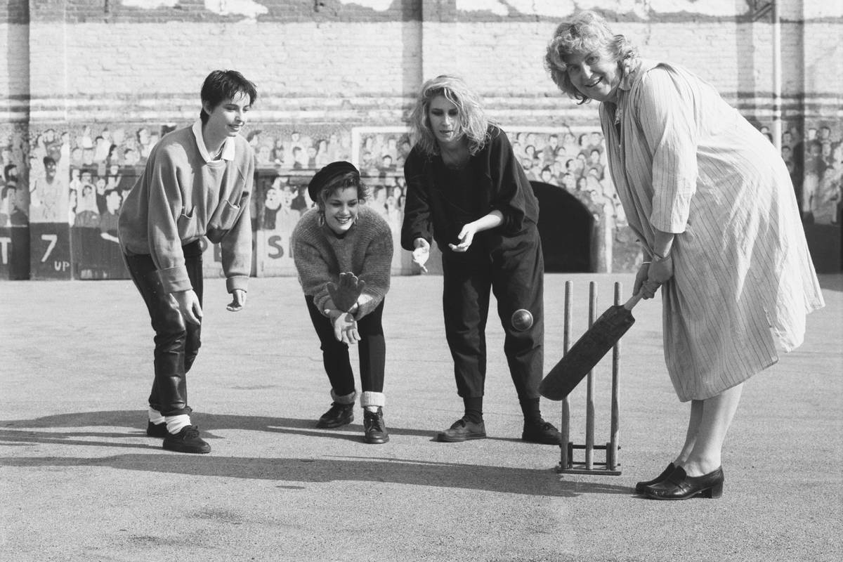 Bananarama Playing Cricket Against Frances Morrell In 1985