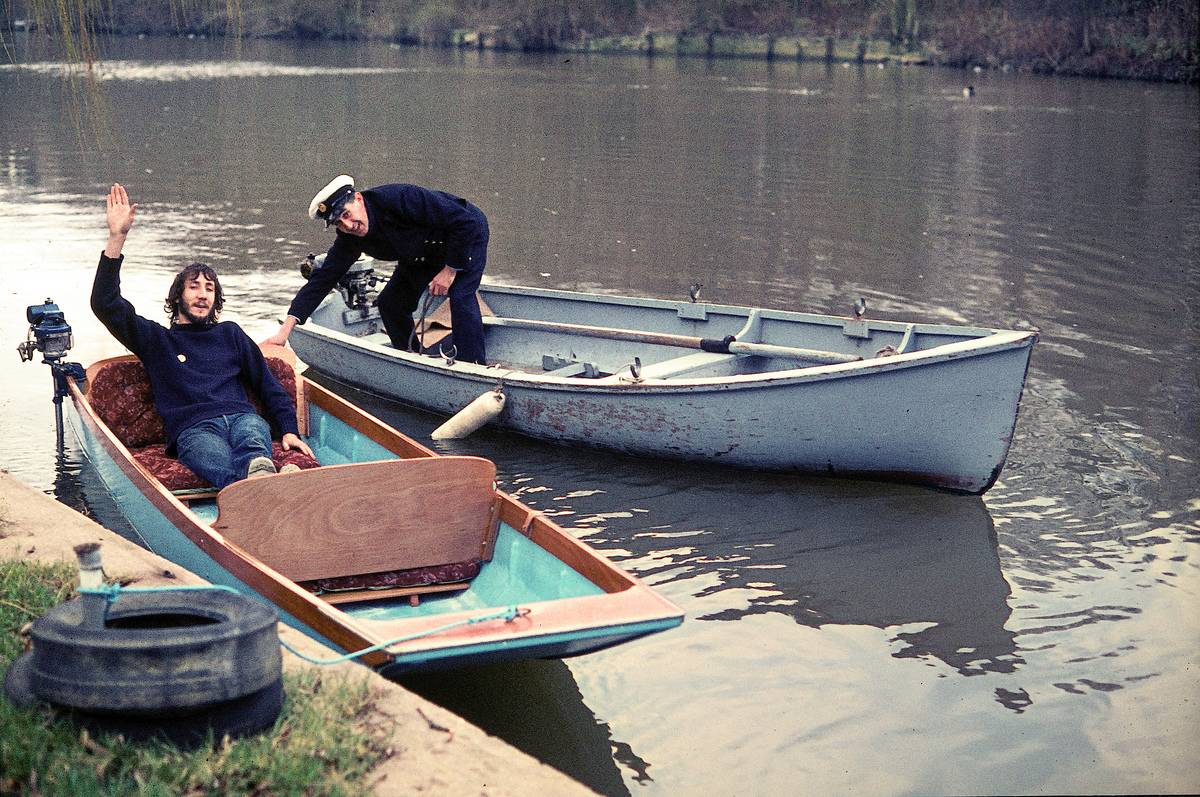 The Who's Pete Townshend Going For A Float Down The River