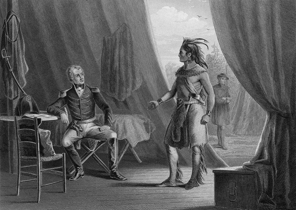 Jackson Speaking to a Native American