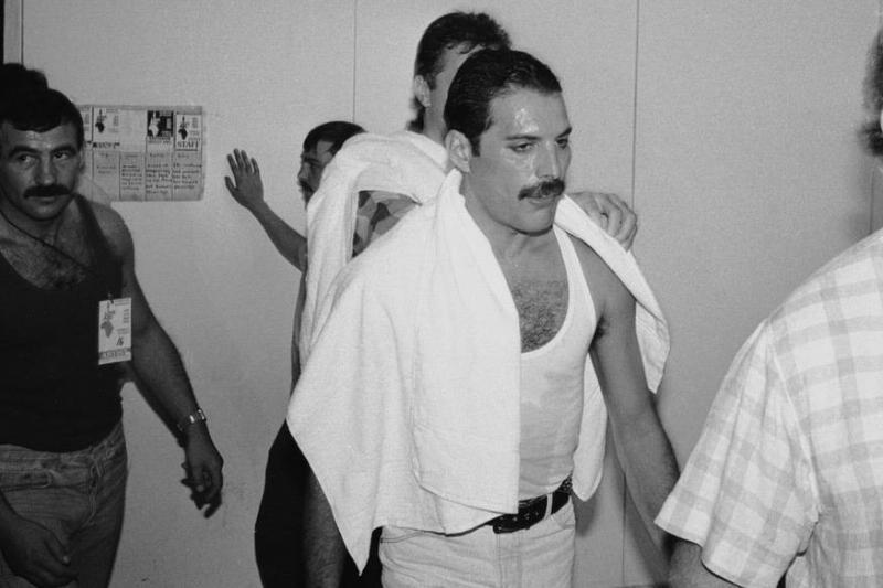 Freddie Mercury Dripping Sweat After A Set