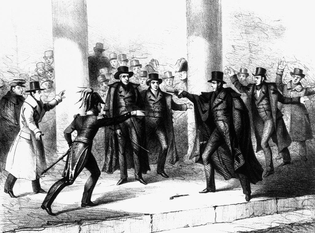 Picture of the assassination attempt