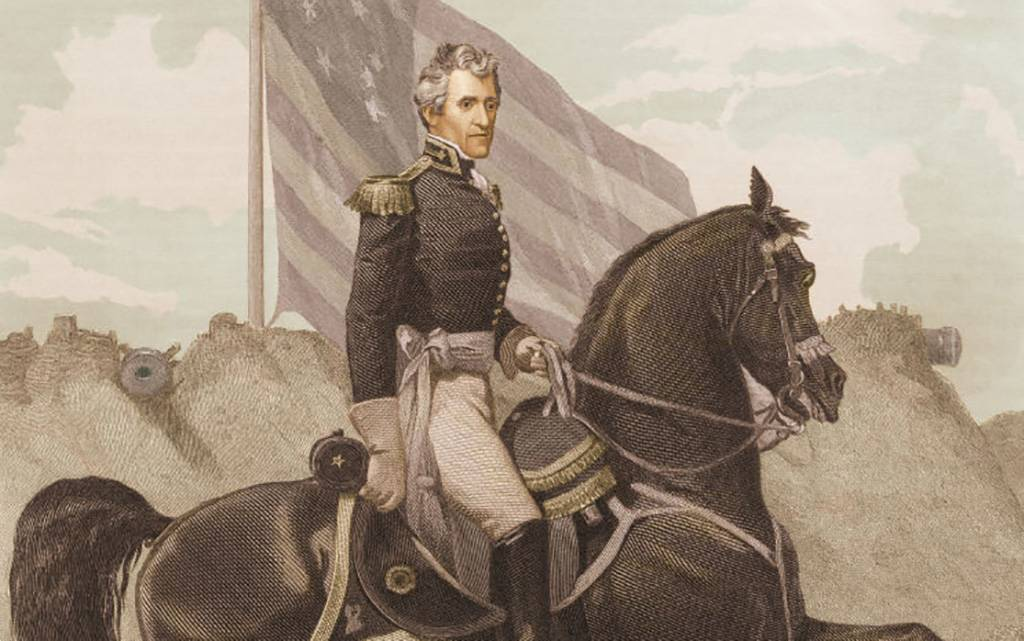 Andrew Jackson on a horse