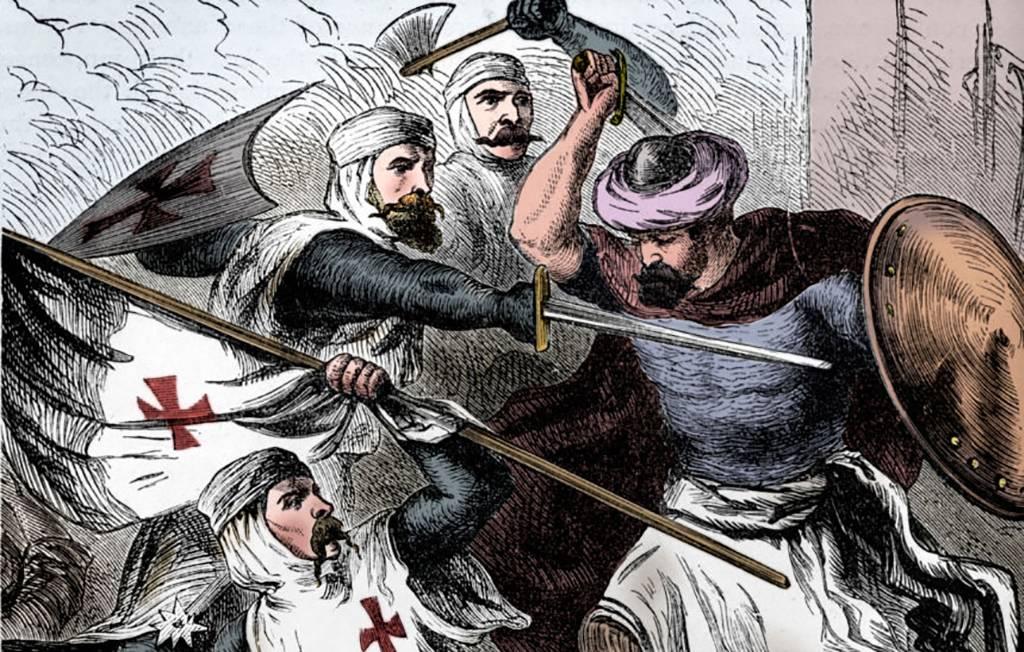 Templars fighting