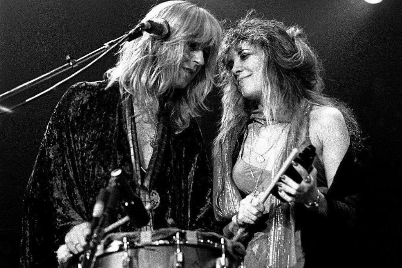 Fleetwood Mac, Rock and Roll Hall of Fame (Class of 1998) Christine McVie and Stevie Nicks perform at The Omni Coliseum
