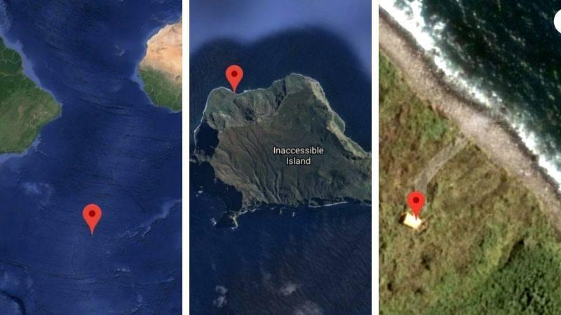 single house on tiny island named