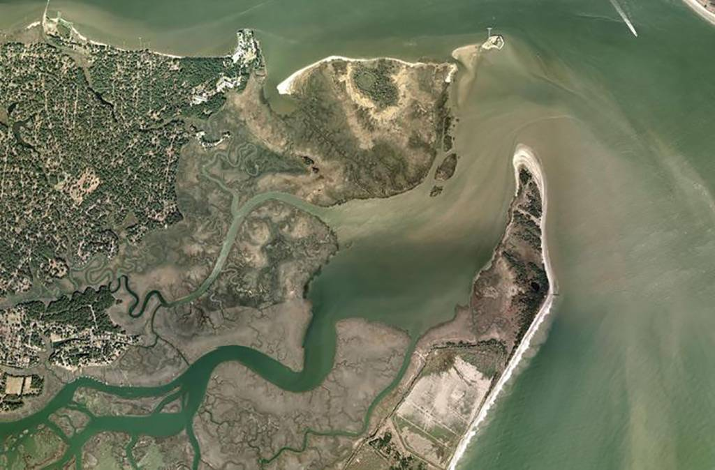 Aerial view of Morris Island