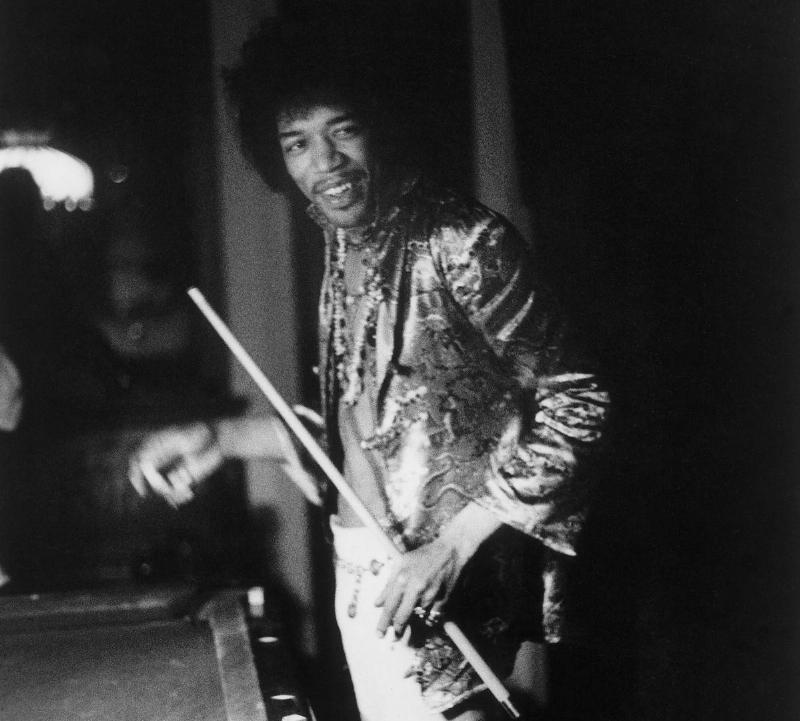 Jimi Hendrix Shooting Some Pool At A Friends House In 1967