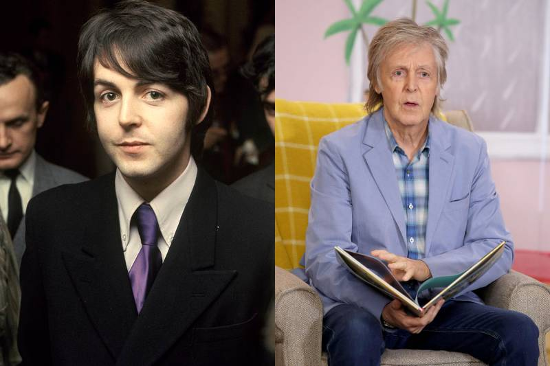 paul mccartney before and after images