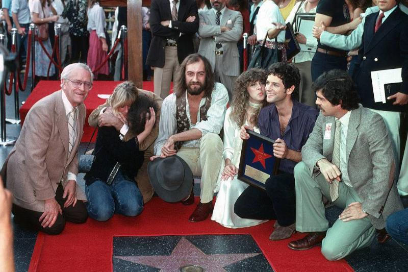 Christine McVie, John McVie, Mick Fleetwood, Stevie Nicks and Lindsay Buckingham of Fleetwood Mac receive their star on the Hollywood Walk of Fame