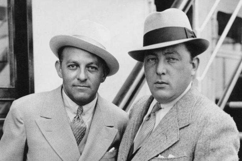 Producer Harry Cohn and director Lewis Milestone