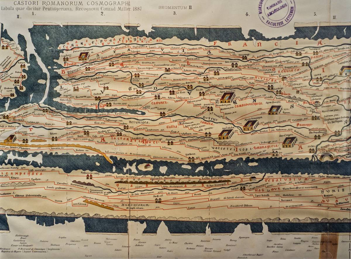 Tabula Peutingeriana Illustrates The Roman Empires Roadways
