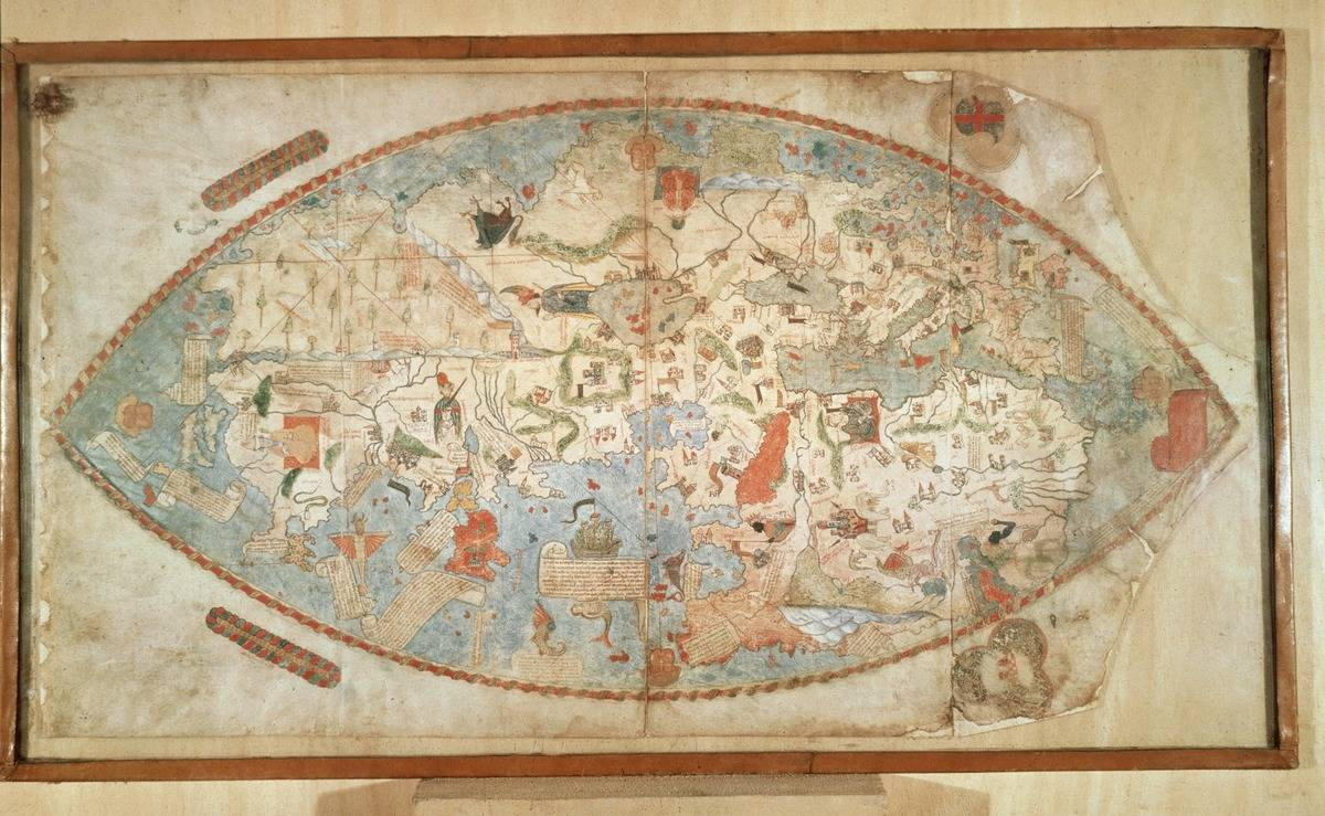 The Genoese World Map Relied On Explorer Niccolo Da Conti