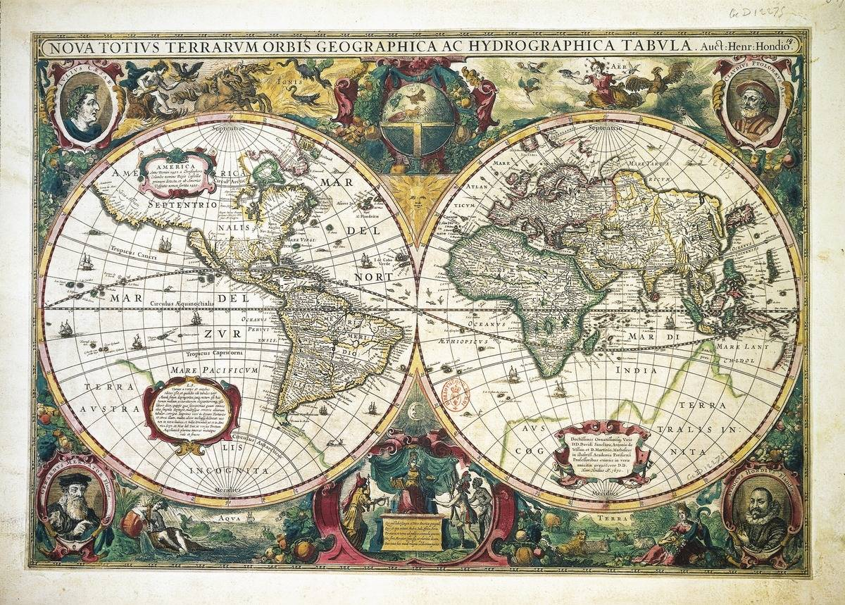 Hendrik Hondius' Map Is The First Dated Map In An Atlas
