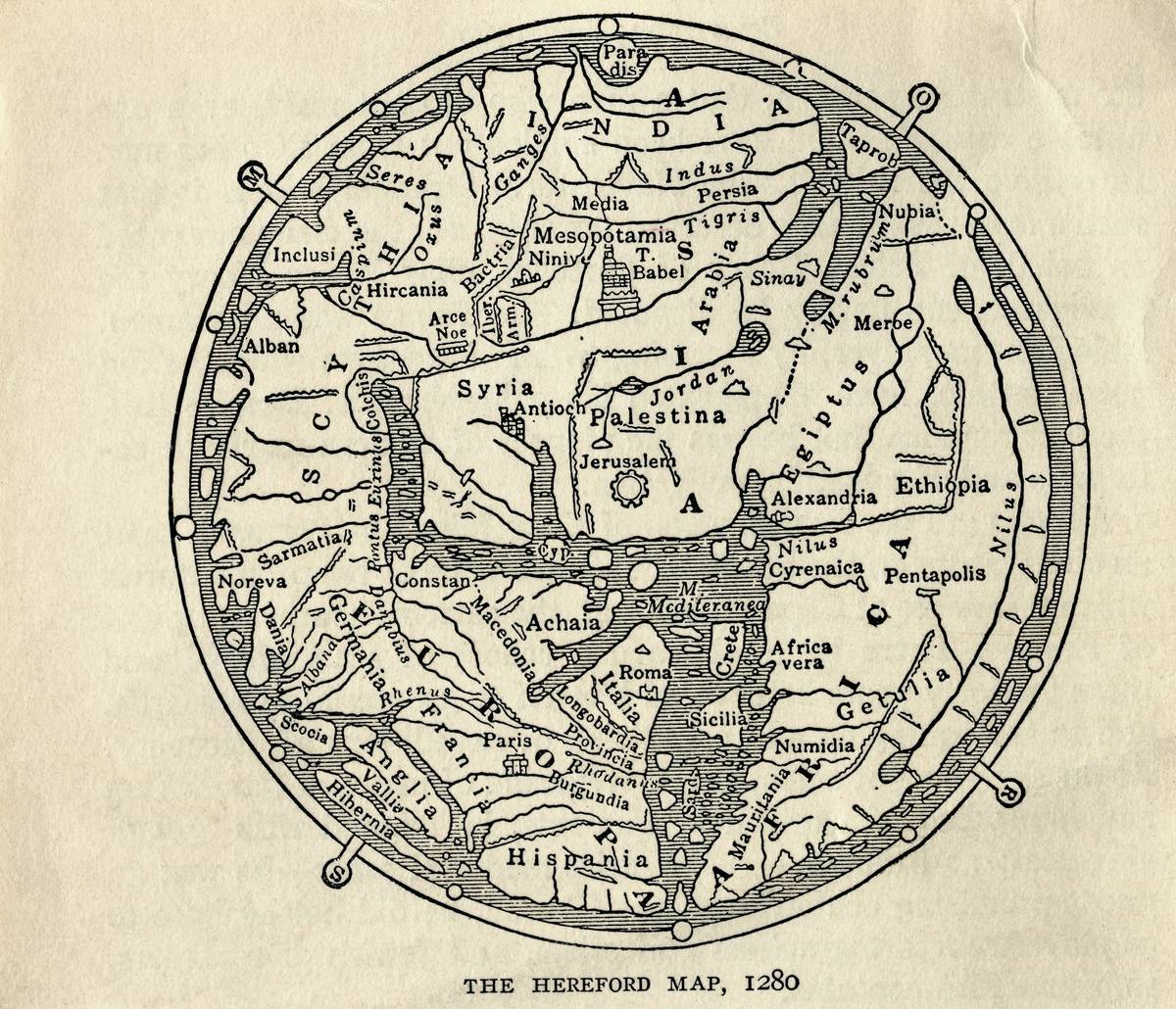 Hereford Mappa Mundi Is The Largest Known Medieval Map