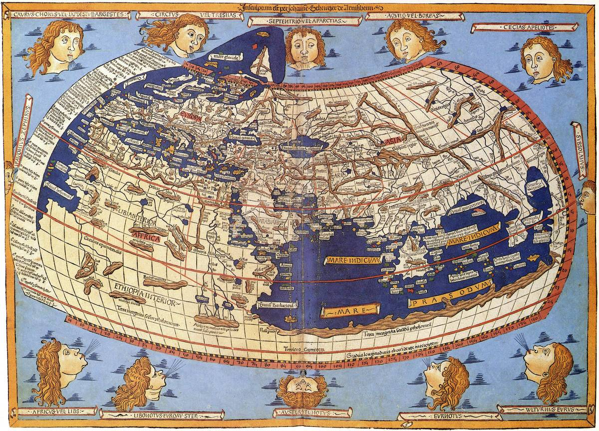 Ptolemy's Map Was The First With Longitude And Latitude