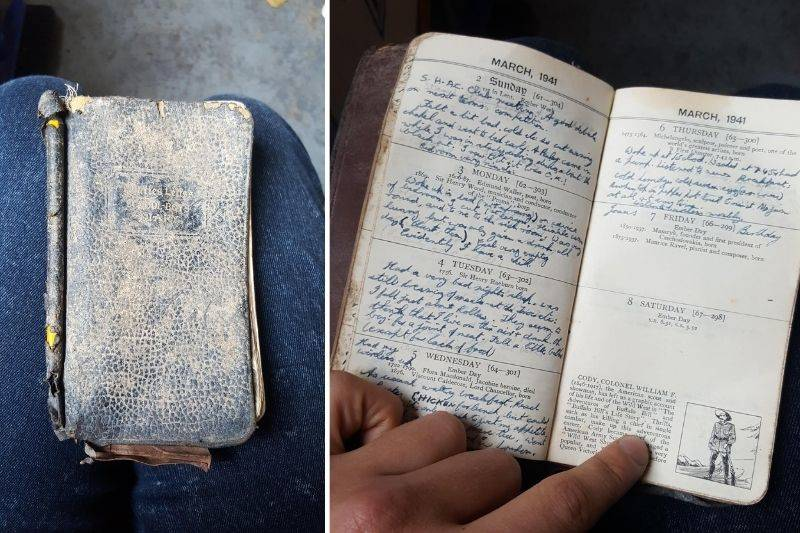diary from 1941 found in recycling