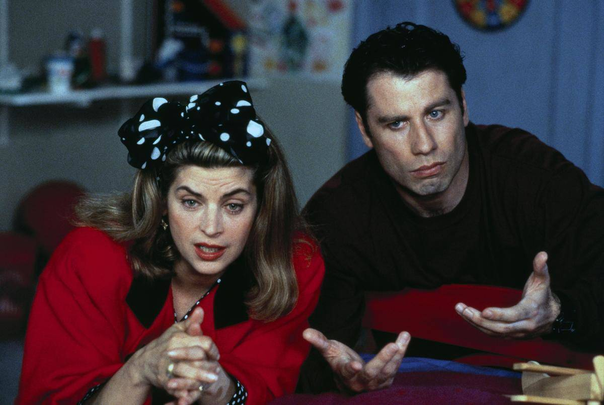 kirstie alley and john travolta in look who's talking now