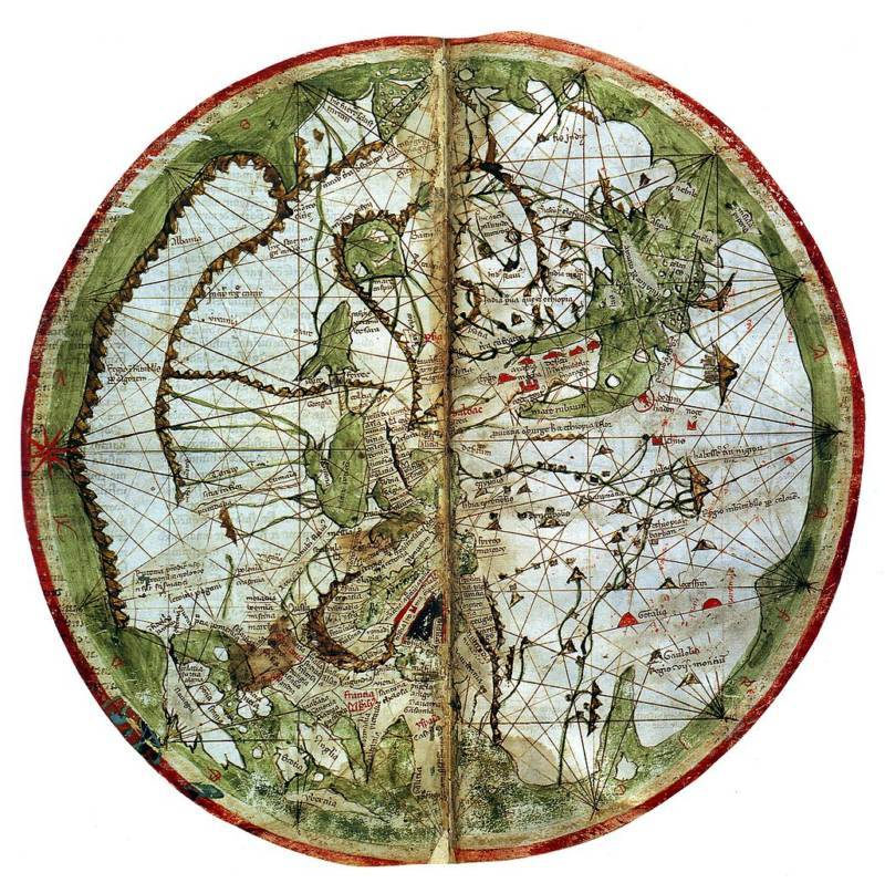 Pietro Vesconte's Map Is Among The First Accurate Nautical Depictions