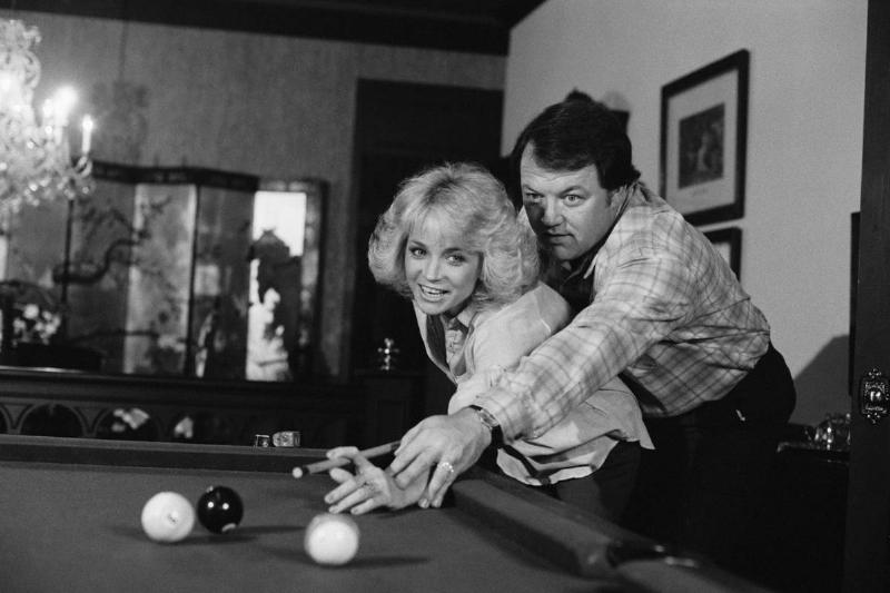 Barbara Mandrell and Kenneth Dudney Playing Pool