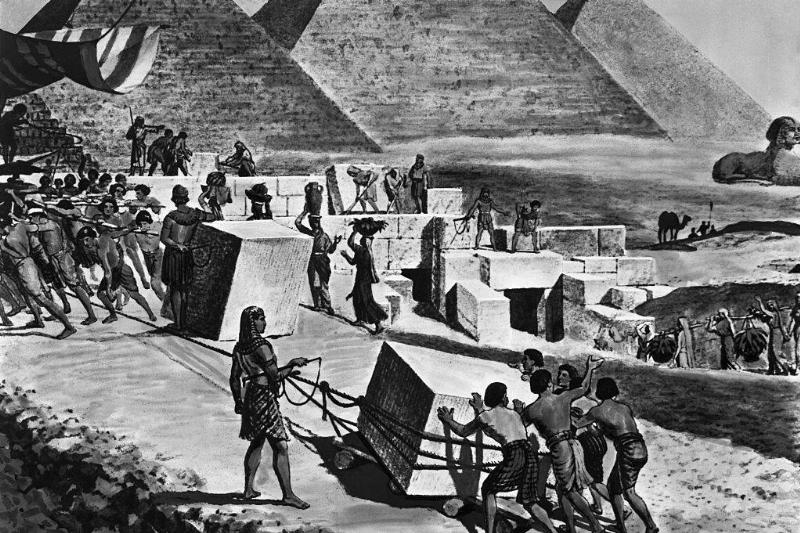 Picture of Jews building Pyramids