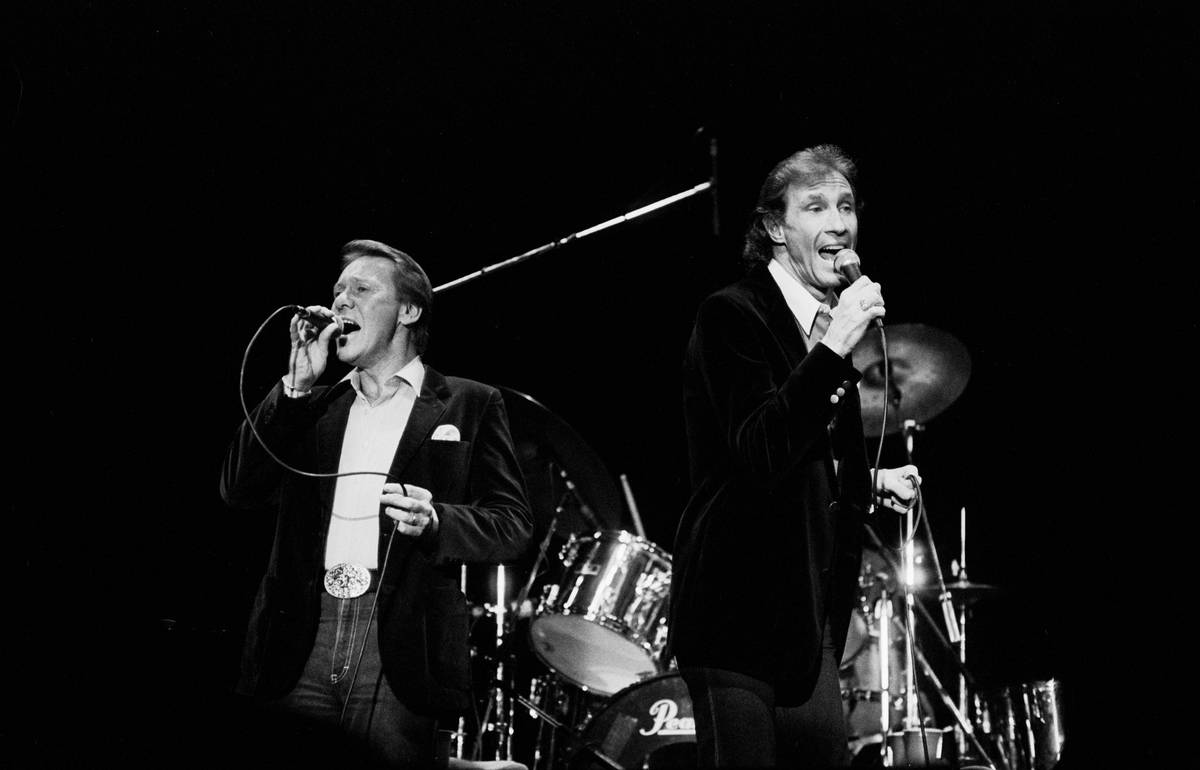 The Righteous Brothers Performing On Stage