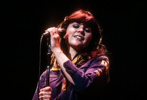 Linda Ronstadt performing on stage