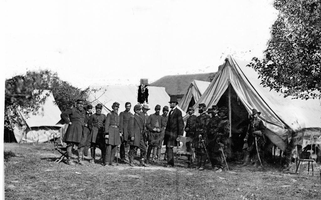 Picture of Lincoln after the battle