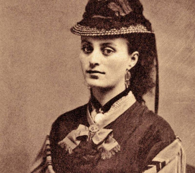 Louisa Houston Earp Peters posing for her picture