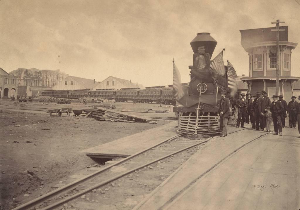 Picture of the train in Philadelphia