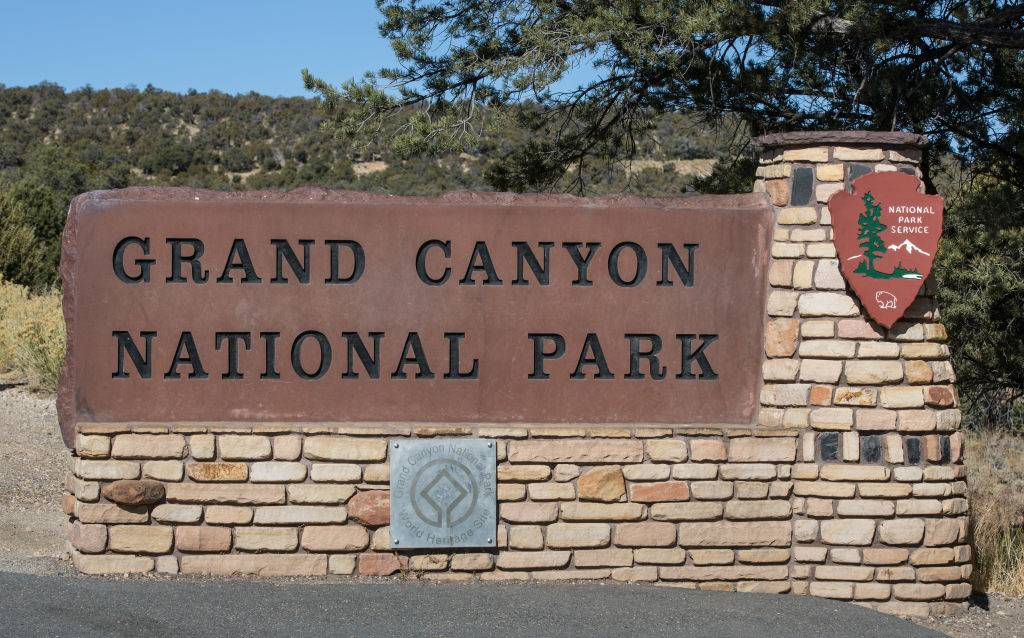 Sign for the national park