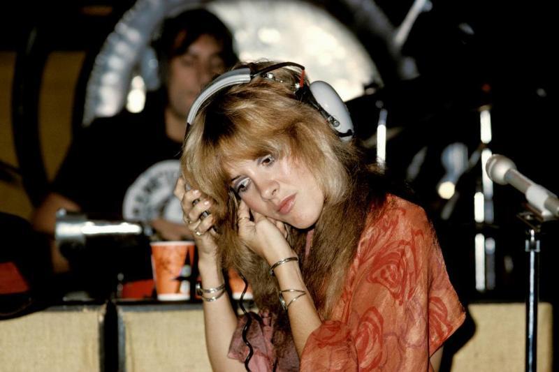 Stevie Nicks in the recording studio