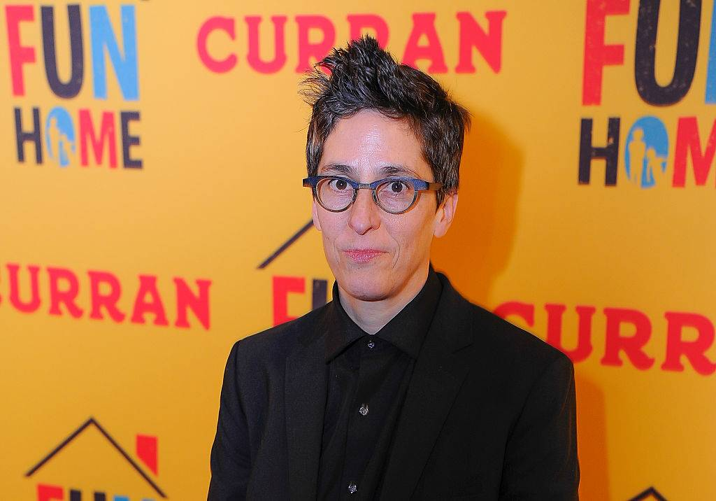 alison bechdel posing for a photo