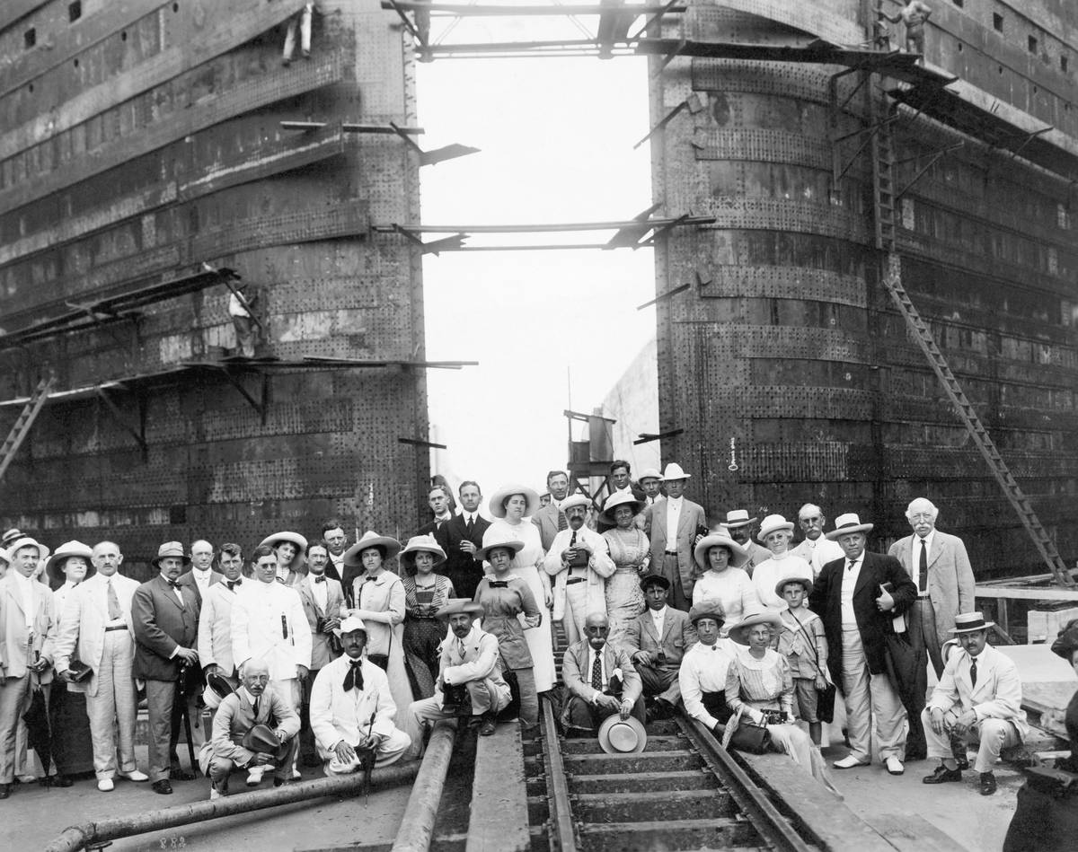 Inspection Party On The Panama Canal