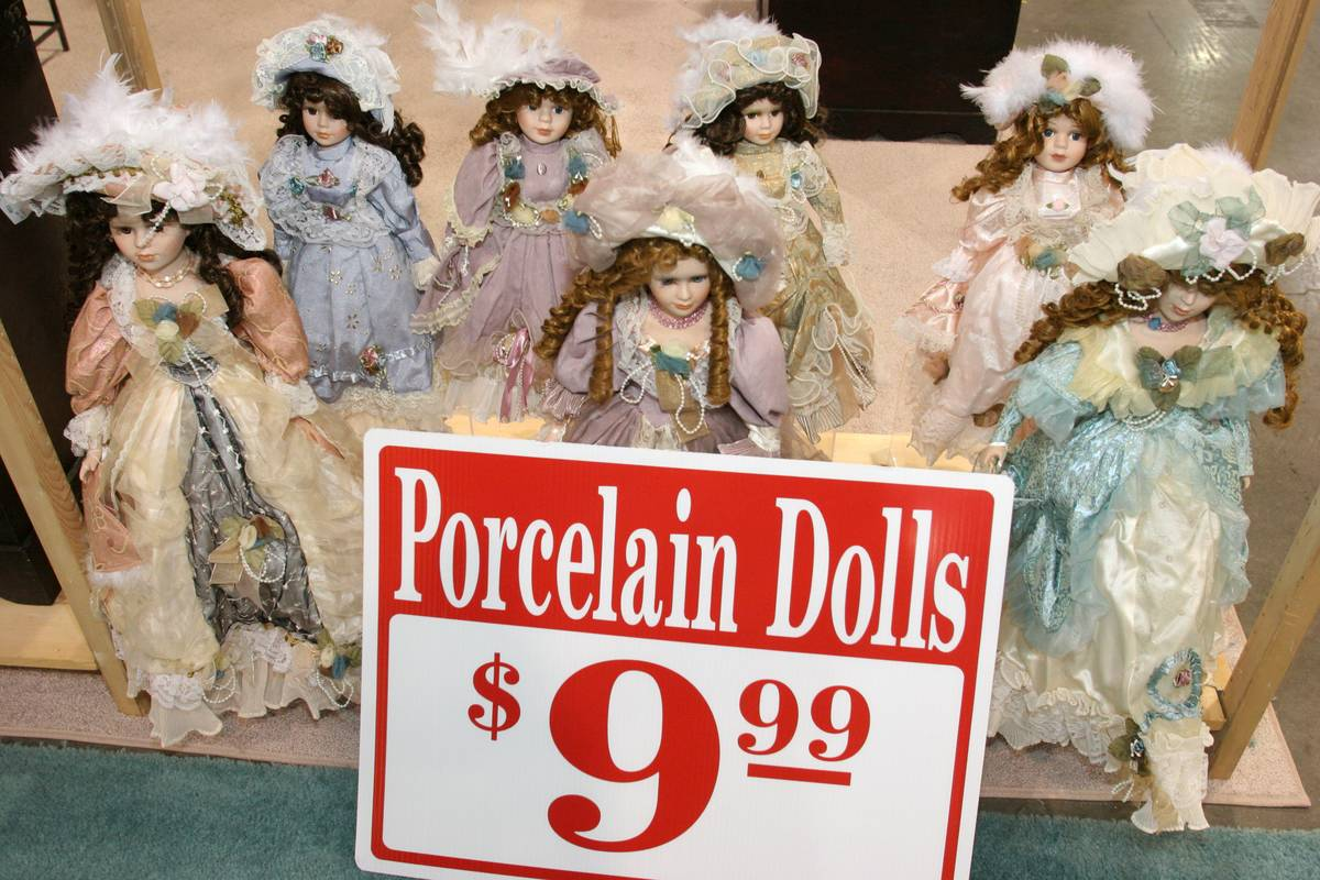 Porcelain dolls for sale at the Home Design and Remodeling Show.