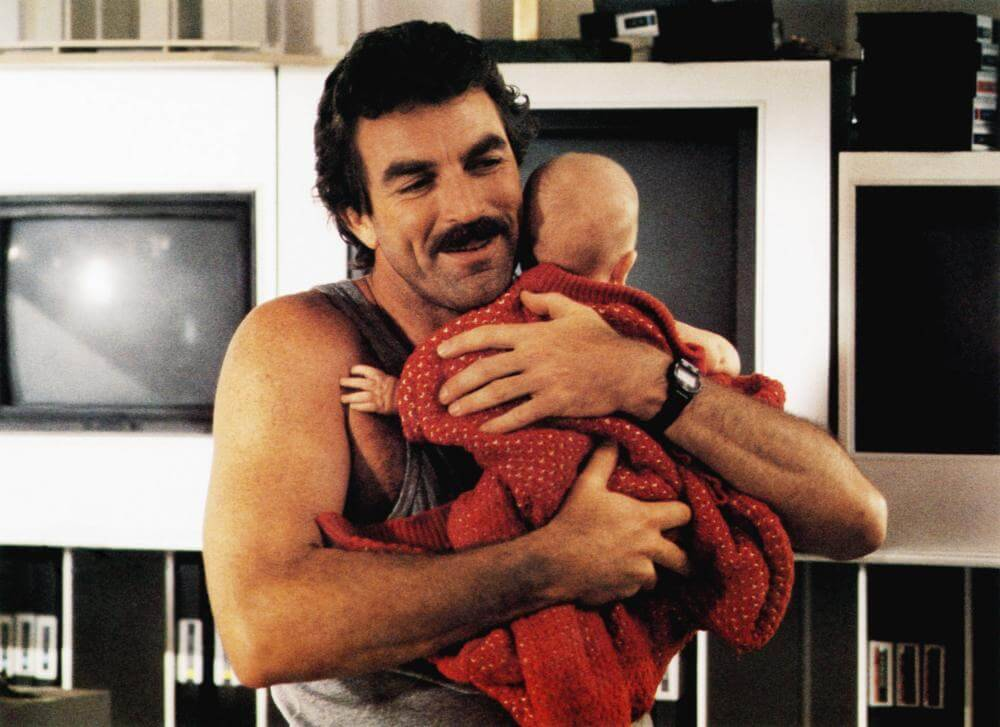 selleck holding a baby and smiling
