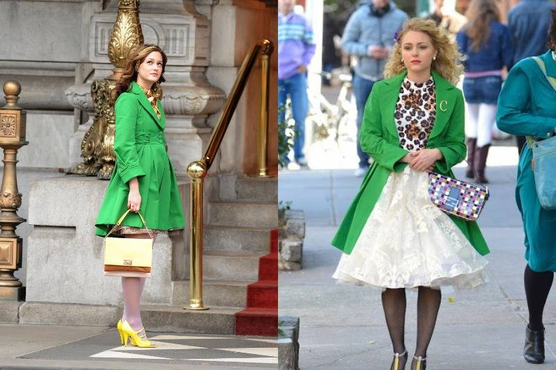 A Lime Green Coat In Gossip Girl & The Carrie Diaries
