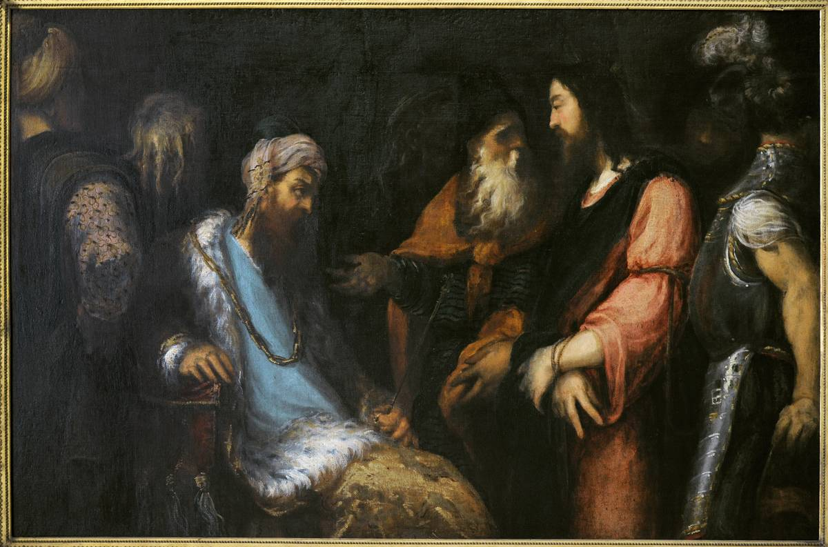 A 16th painting portrays Jesus approaching Herod the Great.