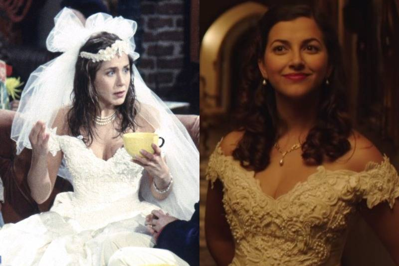 Rachel's Wedding Gown In Friends Is Also Seen In  Edgar Allan Poe's Murder Mystery Dinner Party