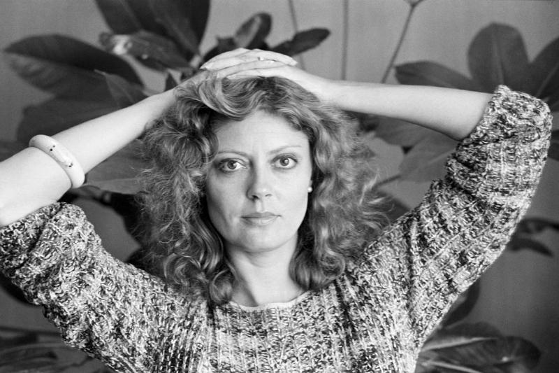 Actress Susan Sarandon appears at the World Film Festival in the 1970s.