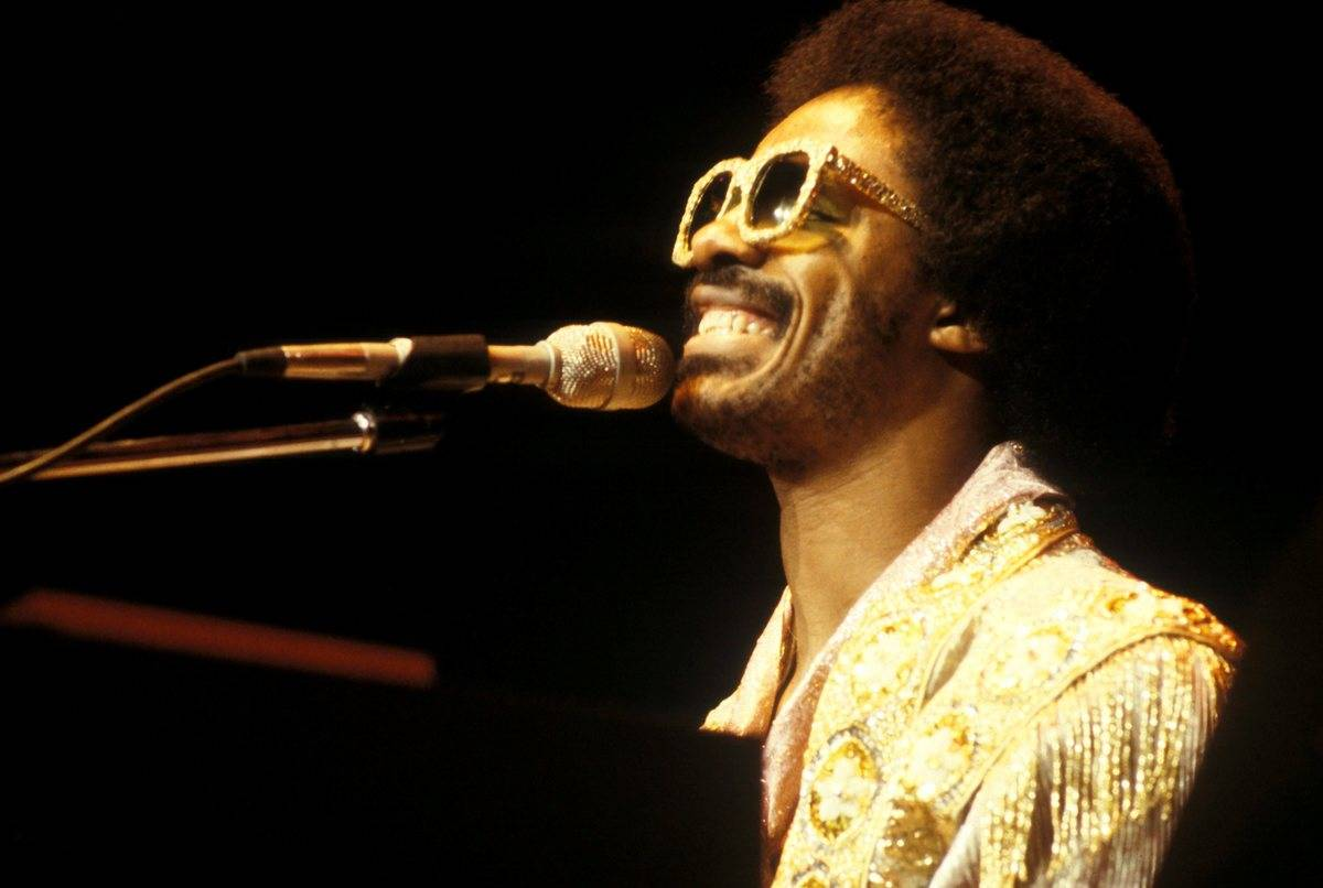 Stevie Wonder performs on stage at Madison Square Garden, 1979.