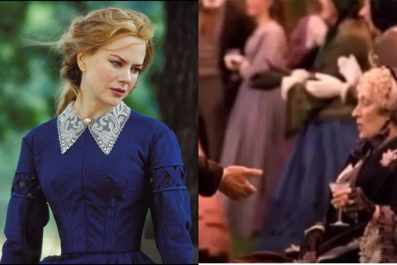 The Victorian Gown In Cold Mountain Is Worn By An Extra In Little Women