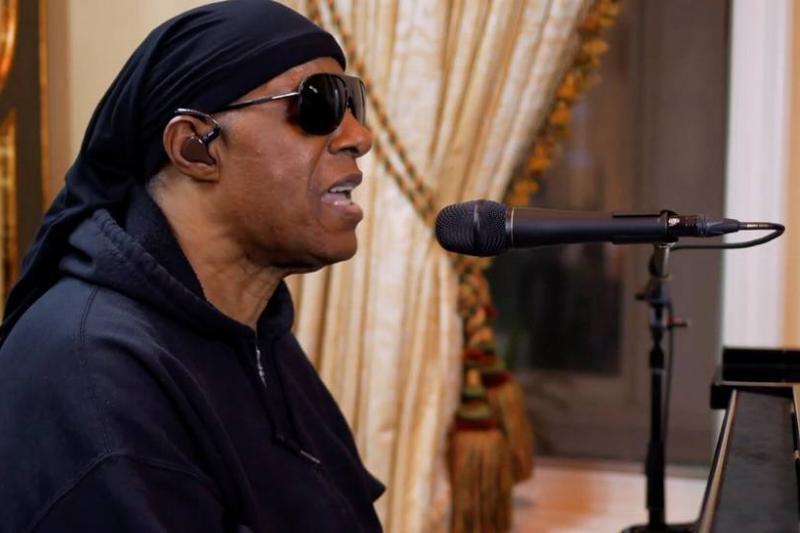 Stevie Wonder performs during