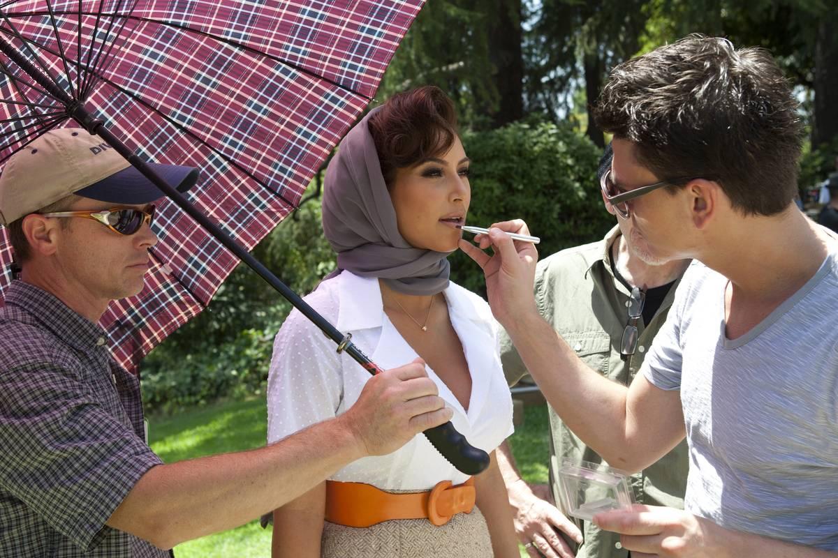 Kim Kardashian On The Set Of New Fragrance Commercial