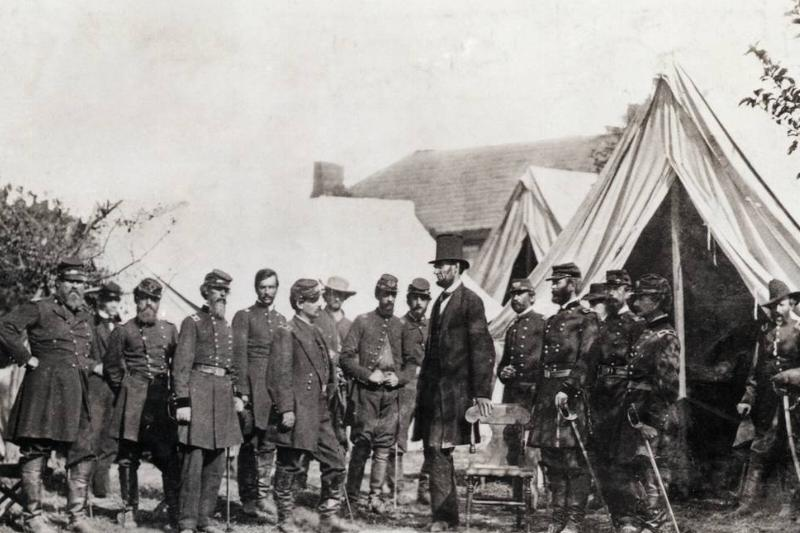 Lincoln Visits Civil War Headquarters