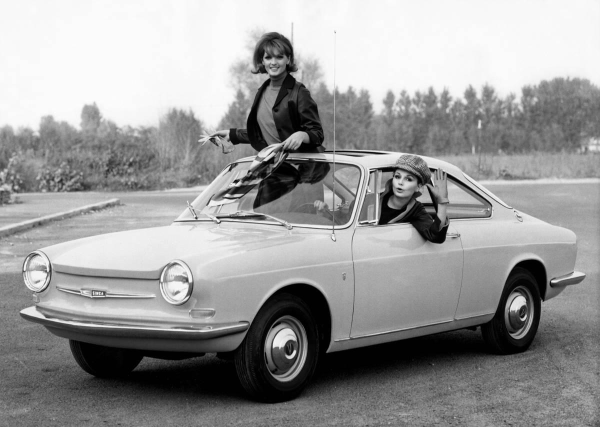 Simca 1000 coupe. bertone body. 1963