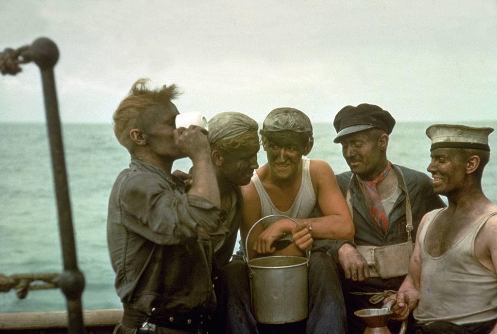 Men on a ship
