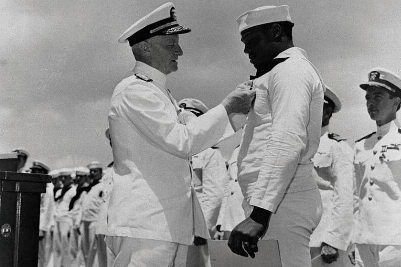 Doris Miller Was The First African American To Be Awarded The Navy Cross For His Bravery