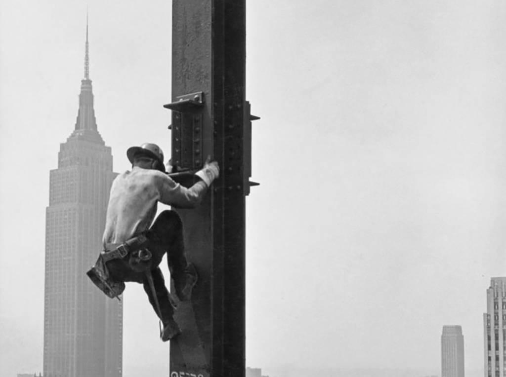 Man on a girder